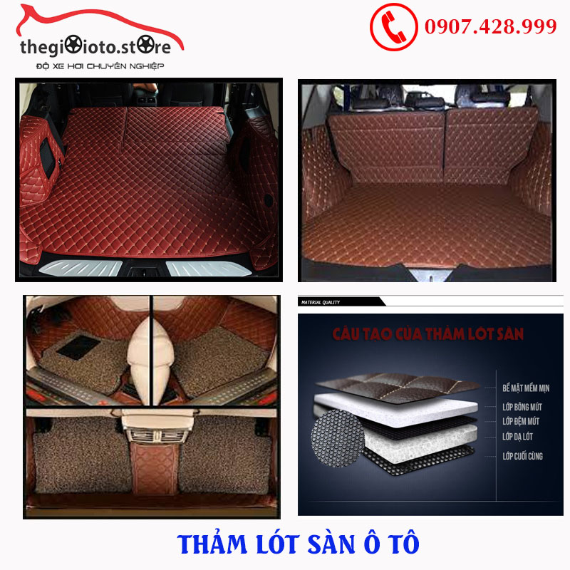 Thảm lót sàn ô tô các loại